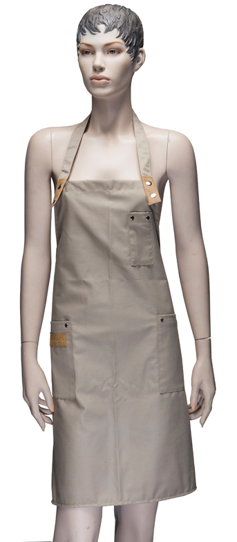 DEWAL PROFESSIONAL Фартук мастера для стрижки, хлопок, бежевый 83х85 см