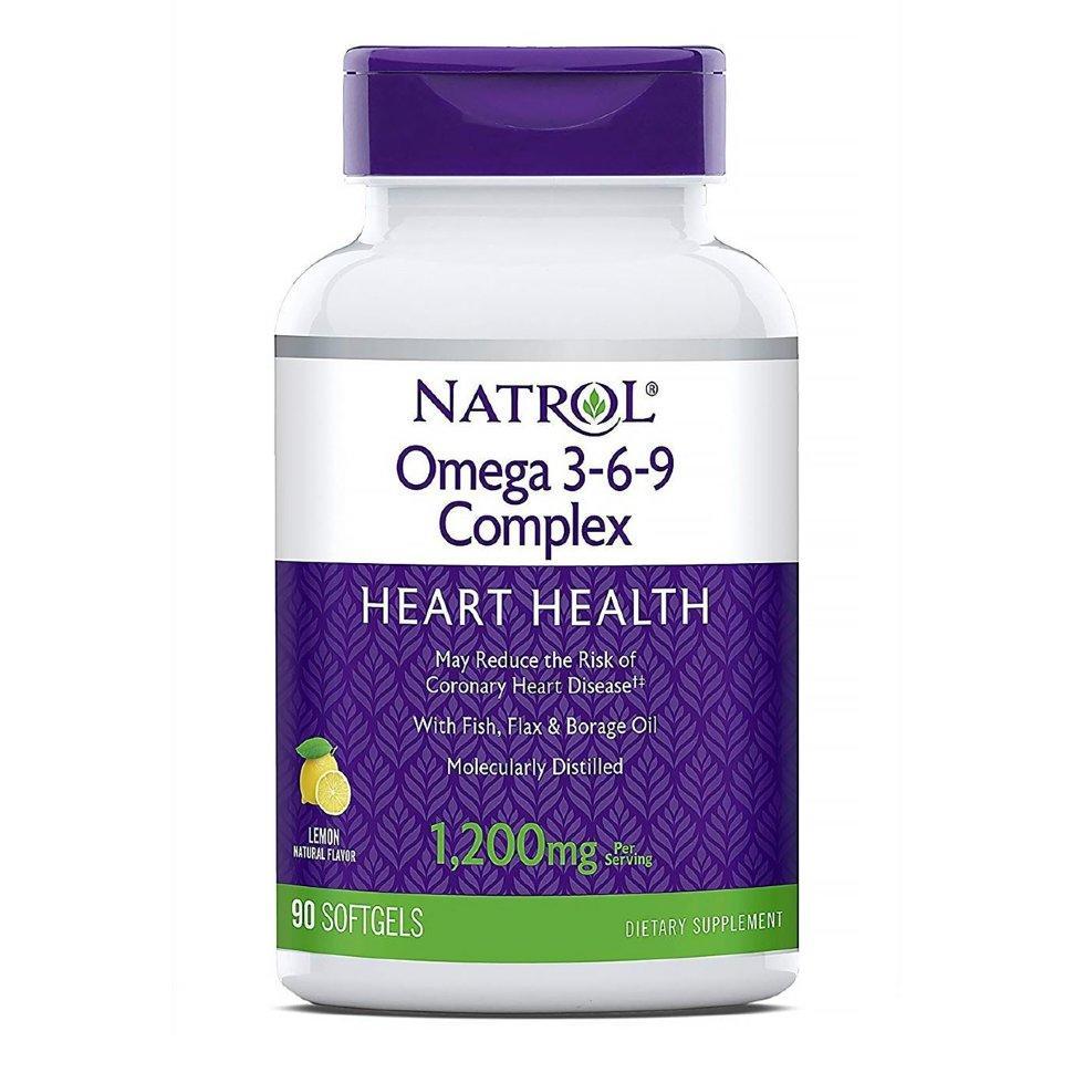 Купить NATROL Добавка биологически активная к пище Натрол омега 3-6-9 комплекс / Omega 3-6-9 Complex 90 капсул