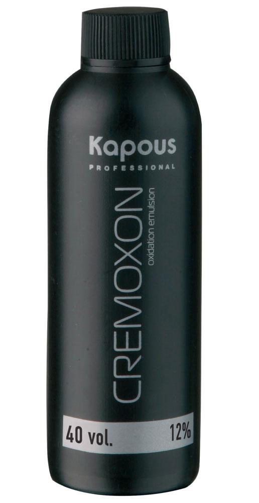 KAPOUS Эмульсия окисляющая 12% / Cremoxon 150млОкислители<br>12% - для окрашивания на 3-4 тона светлее исходного цвета. Специальный крем-оксид для использования с кремами-красками KAPOS PROFESSIONAL. Богатый комплекс природных питательных веществ и стабилизаторов оптимально защищает волосы в процессе окрашивания. Перемешивание косметического средства с кремами-красками позволяет Вам достичь стойких желаемых цветов и оттенков, со всем возможным многообразием палитры. Специальная формула KREMOXON KAPOUS легко соединяется с кремами-красками. Краска легко наносится, вымешивается и равномерно распределяется на волосах. В процессе окрашивания препарат не стекает, тем самым обеспечивая равномерное окрашивание. Безупречно сочетается с крем-красками Kapous, а так же со всеми обесцвечивающими средствами Kapous. Способ применения: применение крем-краски  Kapous  невозможно без проявляющего крем-оксида  Cremoxon Kapous . Краски отличаются высокой экономичностью при смешивании в пропорции 1 часть крем-краски и 1,5 части крем-оксида 12%. Для наиболее эффективной защиты волос при окрашивании, равномерно нанесите KAPOUS CREMOXON непосредственно перед окрашиванием.<br><br>Содержание кислоты: 12%<br>Класс косметики: Косметическая
