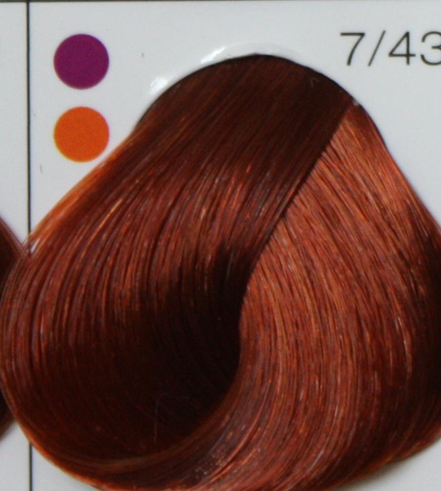 LONDA PROFESSIONAL 7/43 краска для волос (интенсивное тонирование), блонд медно-золотистый / LC NEW 60мл londa интенсивное тонирование 42 оттенка 60 мл londacolor интенсивное тонирование 7 43 блонд медно золотистый 60 мл 60 мл