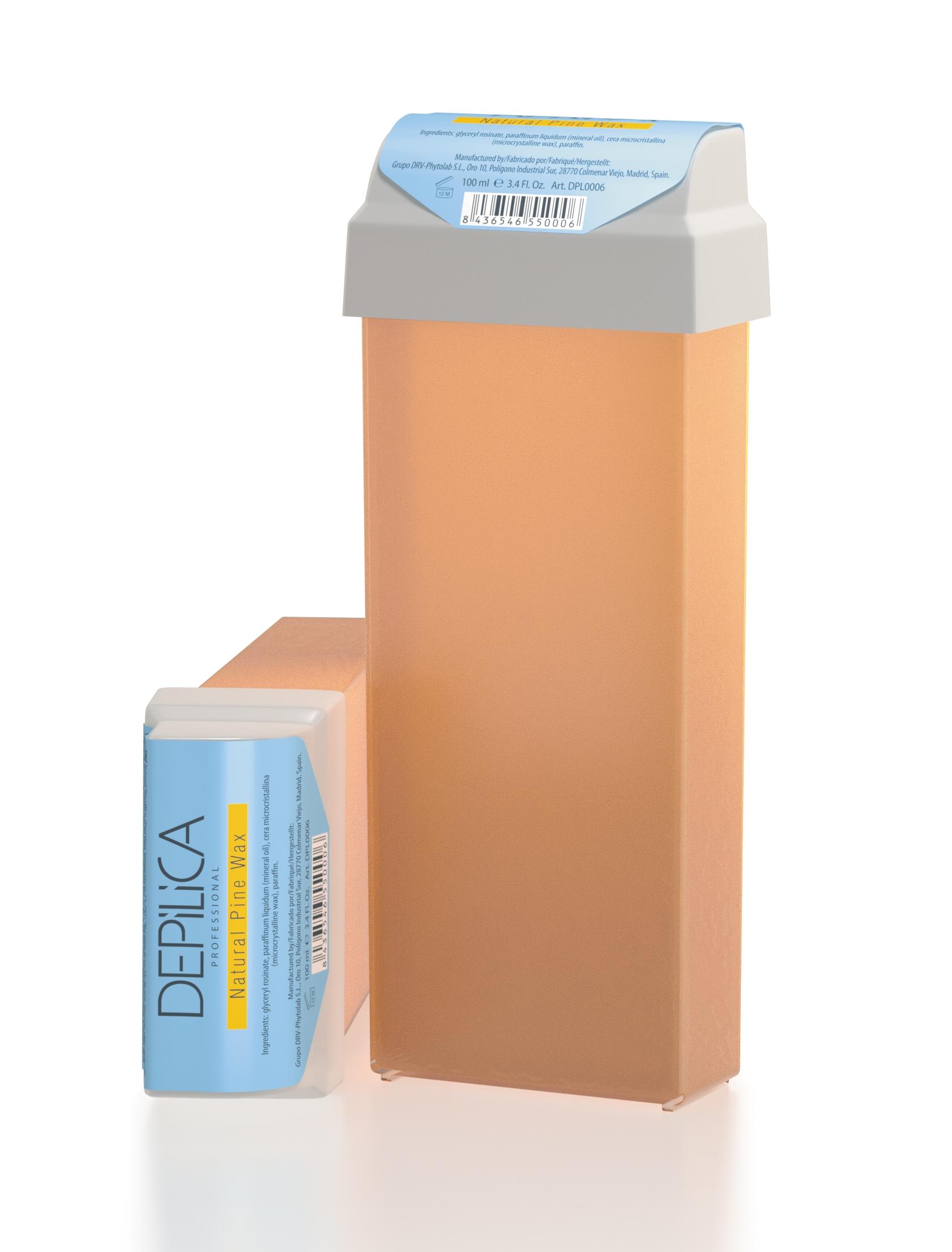 DEPILICA PROFESSIONAL Воск теплый с сосновой смолой / Natural Pine Warm Wax 100млВоски<br>Содержит сосновую смолу и растительные масла. Обеспечивает эффективное удаление волос, оказывает успокаивающее действие, защищает кожу. Имеет прозрачную текстуру, удобен в использовании. Рекомендуется для начинающих мастеров. Универсальные картриджи воска подходят для всех стандартных нагревателей. Они оснащены роликом-аппликатором что очень удобно для быстрого и чистого нанесения.<br>