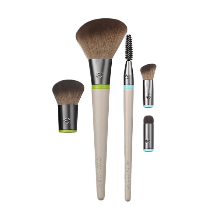 Купить ECOTOOLS Набор кистей для макияжа (5 сменных насадок + 2 ручки) Interchangeables Daily Essentials Total Face Kit