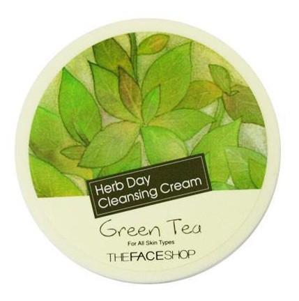 THE FACE SHOP Крем очищающий с экстрактом зеленого чая / Herb Day Cleansing Cream 150 мл