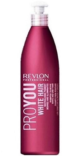 REVLON Шампунь для оживления седых волос / PROYOU 350млШампуни<br>Шампунь для восстановления седых и мелированных волос. Содержит нейтрализующий пегмент, который устраняет серые и жёлтые оттенки, придает волосам приятный блеск, мягкость и эластичность. Revlon PROYOU White Hair Shampoo содержит специальный нейтрализующий пигмент, который устраняет серые и желтые оттенки на прядях, оставляя цвет волос насыщенным и глубоким. Волосы становятся блестящими, им возвращается природная мягкость, сохраняется эластичность. Блондированные волосы приобретают матовое сияние, а в случае, если вы не закрашиваете седину, она приобретает благородный оттенок. Способ применения: нанесите небольшое количество Шампуня Pro You White Hair на увлажненные теплой водой волосы. Помассируйте несколько минут, а затем смойте. После использования Шампуня рекомендуется воспользоваться одной из питательных масок Revlon. Средство подходит для ежедневного применения.<br><br>Цвет: Блонд