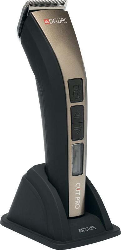 DEWAL PROFESSIONAL Машинка для стрижки Cut Pro, 0.7-1,9 мм, аккумуляторно-сетевая, Led дисплей, 1 нож, 4 насадки - Машинки для стрижки