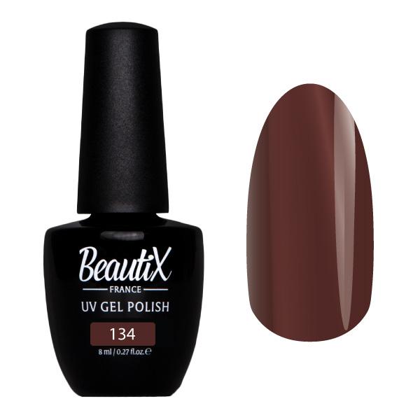 Купить BEAUTIX 134 гель-лак для ногтей 8 мл, Коричневые