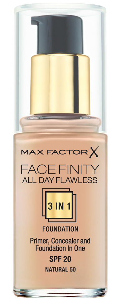 Купить MAX FACTOR Основа тональная 50 / Facefinity All Day Flawless 3-in-1 natural