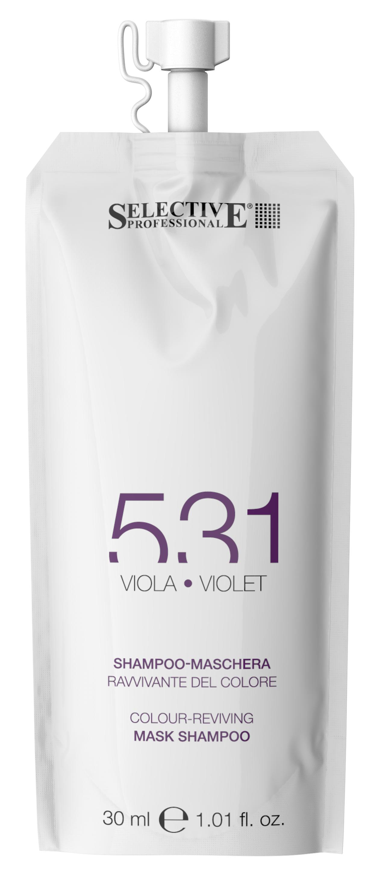 Купить SELECTIVE PROFESSIONAL Шампунь-маска для возобновления цвета волос 531, фиолетовый 30 мл