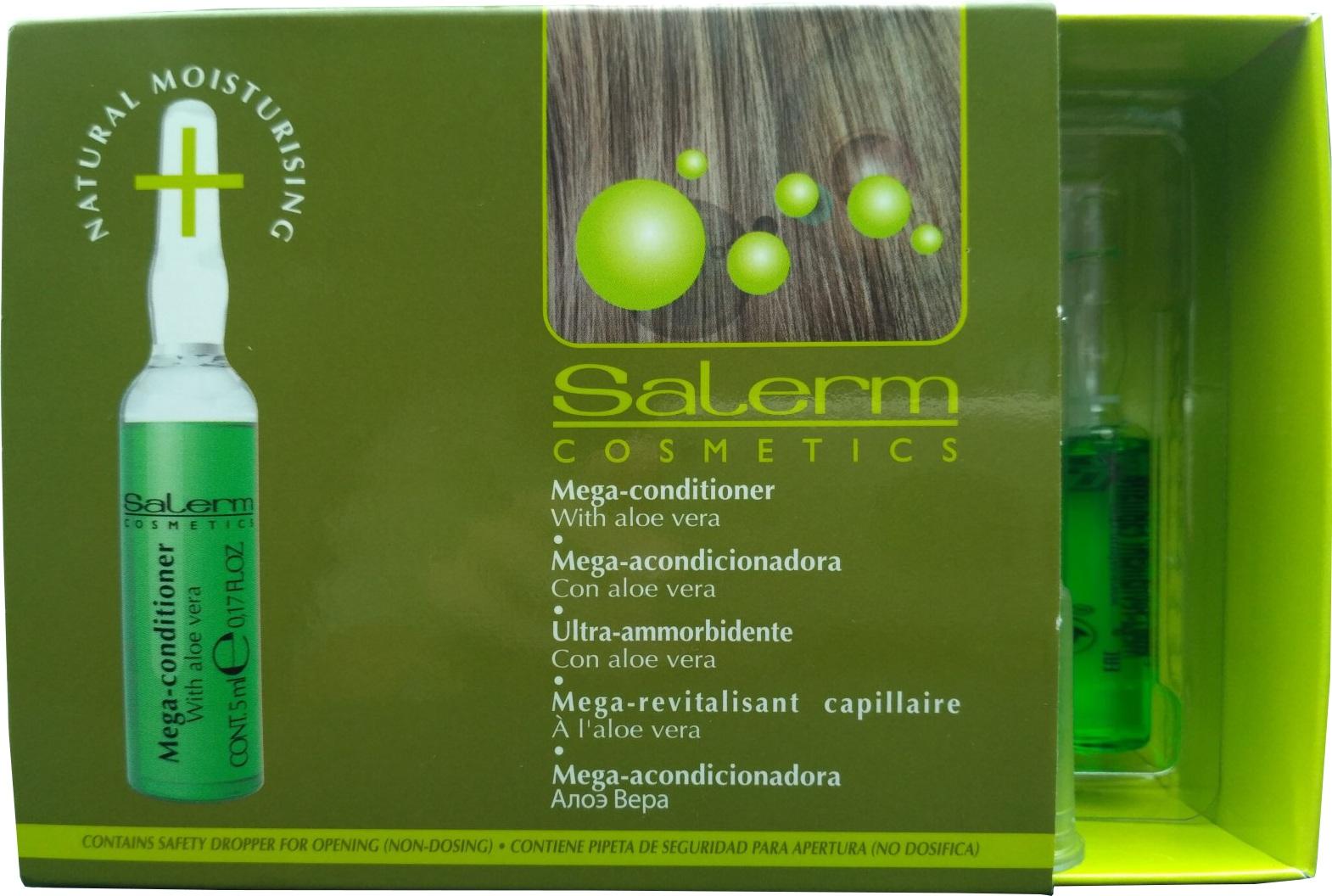 SALERM COSMETICS Кондиционер глубокового действия для сильно поврежденных волос / Mega Essential Conditioner 12*5 мл