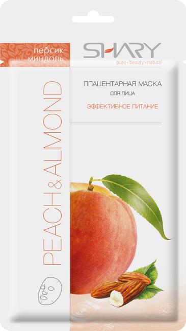 SHARY Маска плацентарная для лица Персик и миндаль / SHARY