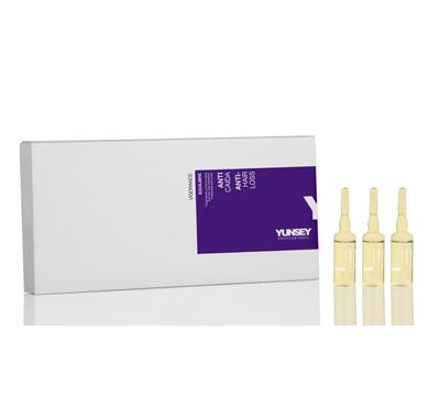 YUNSEY PROFESSIONAL Средство косметическое против выпадения волос  EQUILIBRE  / NEW ANTI HAIR LOSS TREATMENT 10*10млАмпулы<br>Благодаря содержанию гидролизованных протеинов сои и растительных экстрактов стимулирует клеточный метаболизм, способствуют регенерации и приданию жизненной силы капиллярному волокну. Не содержит парабены и силиконы. Активные ингредиенты: содержит растительные экстракты и гидролизованные протеины сои, которые способствуют укреплению волос, регенерации клеток и приданию им жизненной силы. Способ применения:&amp;nbsp;после мытья шампунем против выпадения волос, удалите остатки влаги полотенцем, расчешите их с помощью расчески, создайте  открытые  линии и нанесите одну ампулу на намеченные участки. Наносите данное средство легкими массажными движениями кончиками пальцев для лучшего эффекта, оставьте на несколько минут, не смывайте, затем уложите волосы обычным способом. Рекомендуется использовать одну или две ампулы еженедельно в зависимости от серьезности проблемы.<br><br>Назначение: Выпадение