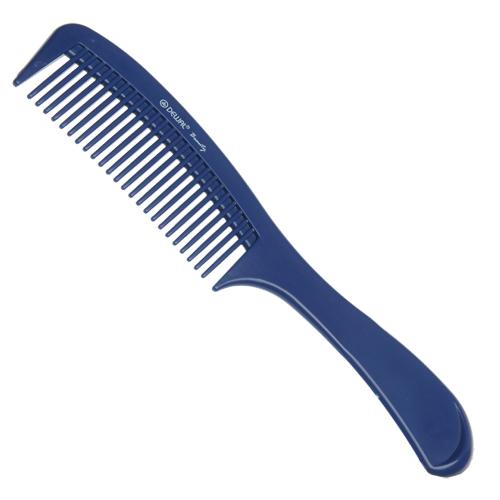 DEWAL BEAUTY Расческа с ручкой синяя 22 см