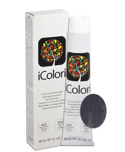 KAYPRO 5.12 краска для волос, лунный лед светло коричневый / ICOLORI 90 мл фото
