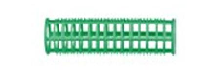 DEWAL BEAUTY Бигуди пластик зеленые, d 23x76 мм 10 шт (в комплекте шпильки 80 мм) цена