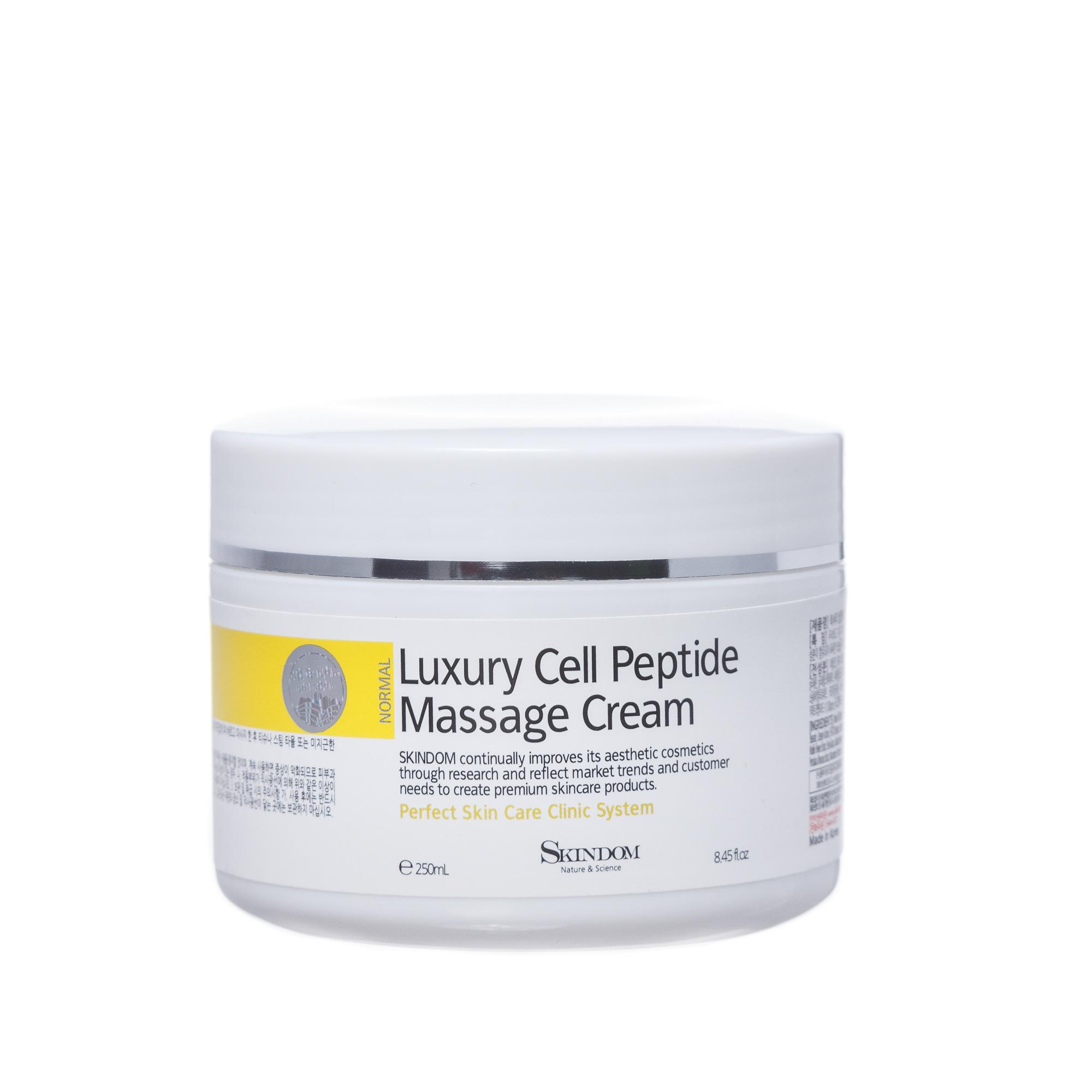 Купить SKINDOM Крем массажный с пептидами для лица / LUXURY CELL PEPTIDE MASSAGE CREME 250 мл