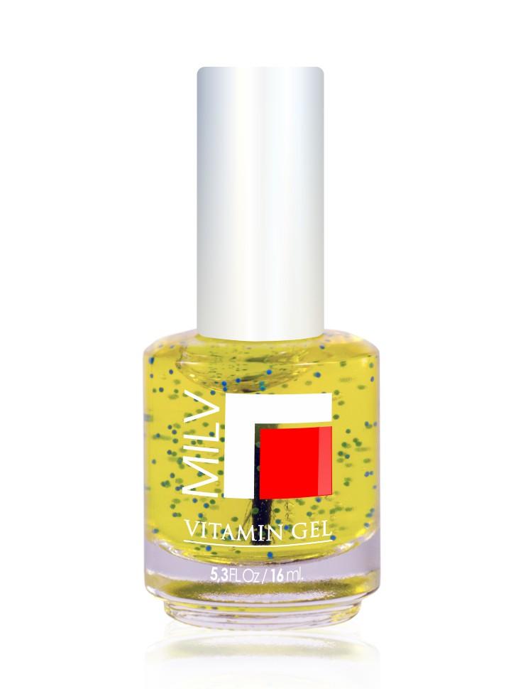 MILV Гель для роста ногтей  Сочный Лимон  / Vitamin Gel 16мл