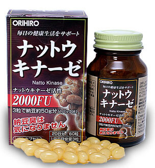 ORIHIRO Натто Киназа, капсулы 60 шт
