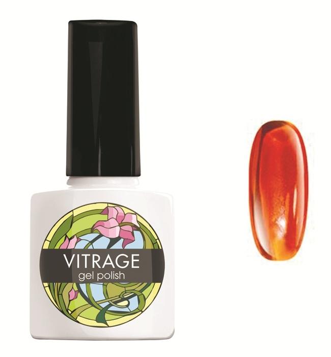 Купить RuNail 4002 гель-лак для ногтей / Vitrage 7 мл, Оранжевые