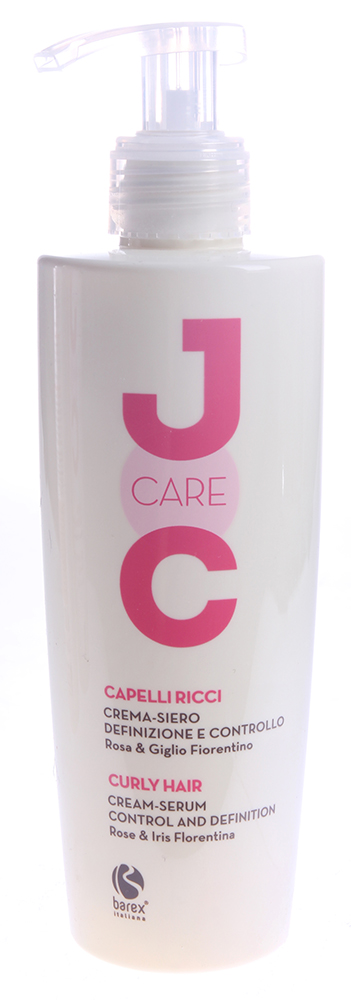 BAREX Сыворотка-крем Идеальные кудри с Флорентийской лилией / JOC CARE 250млСыворотки<br>Увлажняющая сыворотка-крем уменьшает пушистость волос и придаёт завиткам упругость. Формирует каждый завиток, укрощает волосы, делает их мягкими и послушными. Специальные полимеры обеспечивают долгосрочную защиту от влажности, покрывая каждый волос лёгкой невидимой плёнкой. Экстракт розы и экстракт флорентийской лилии (ириса): увлажняют, придают волосам эластичность и упругость. Активные ингредиенты: экстракт розы, экстракт флорентийской лилии (ириса), кондиционирующие полимеры, масло сладкого миндаля, пантенол. Способ применения: нанести на сухие или влажные волосы и равномерно распределить по длине. Не смывать. Приступить к укладке.<br><br>Типы волос: Сухие
