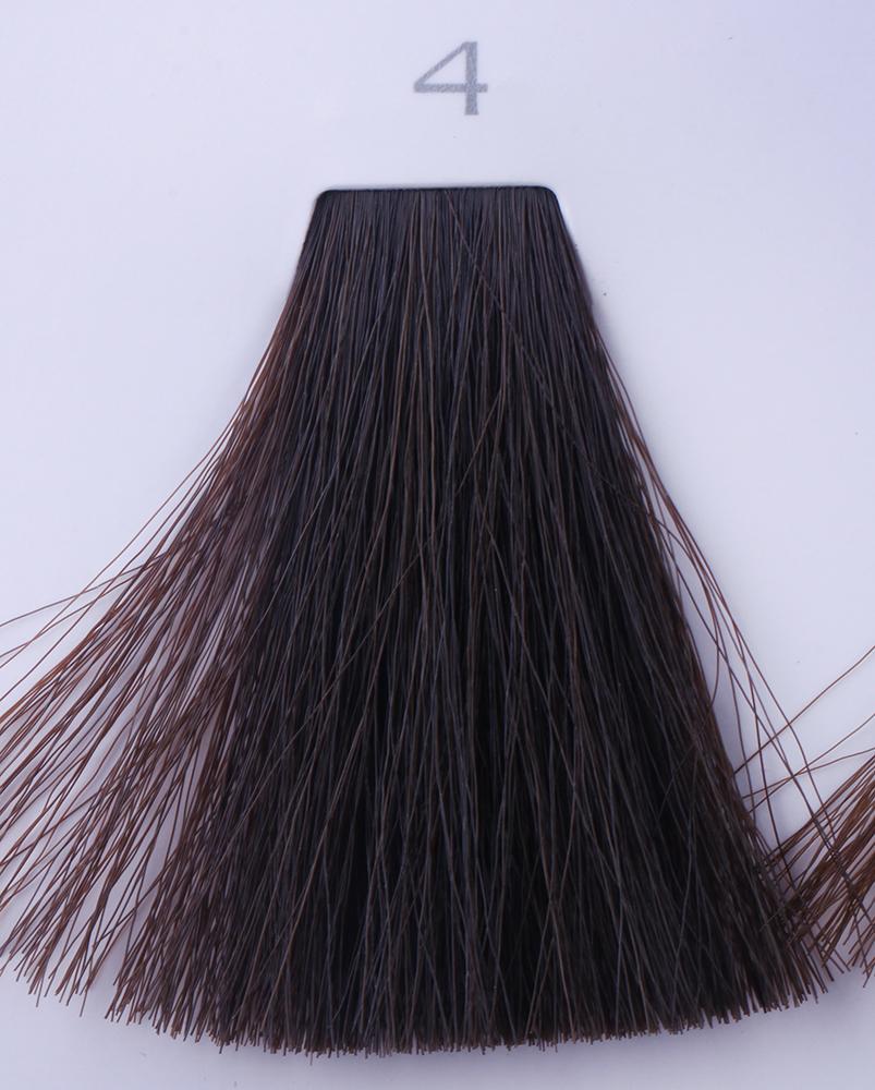 HAIR COMPANY 4 краска для волос / HAIR LIGHT CREMA COLORANTE 100млКраски<br>4 каштановыйHair Light Crema Colorante   профессиональный перманентный краситель для волос, содержащий в своем составе натуральные ингредиенты и в особенности эксклюзивный мультивитаминный восстанавливающий комплекс. Минимальное количество аммиака позволяет максимально бережно относится к структуре волоса во время окрашивания. Содержит в себе растительные экстракты вытяжку из арахиса, лецитин, витамин А и Е, а так же витамин С который является природным консервантом цвета. Применение исключительно активных ингредиентов и пигментов высокого качества гарантируют получение однородного, насыщенного, интенсивного и искрящегося оттенка. Великолепно дает возможность на 100% закрасить даже стекловидную седину. Наличие 6-ти микстонов, а так же нейтрального бесцветного микстона, позволяет достигать получения цветов и оттенков. Способ применения: смешать Hair Light Crema Colorante с Hair Light Emulsione Ossidante в пропорции 1:1,5. Время воздействия 30-45 мин.<br><br>Цвет: Бежевый и коричневый<br>Вид средства для волос: Восстанавливающий<br>Класс косметики: Профессиональная