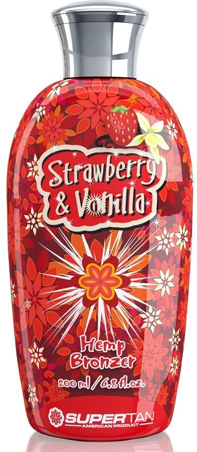 SUPER TAN Бронзатор с экстрактом конопли / Strawberry & Vanilla 200 мл - Лосьоны