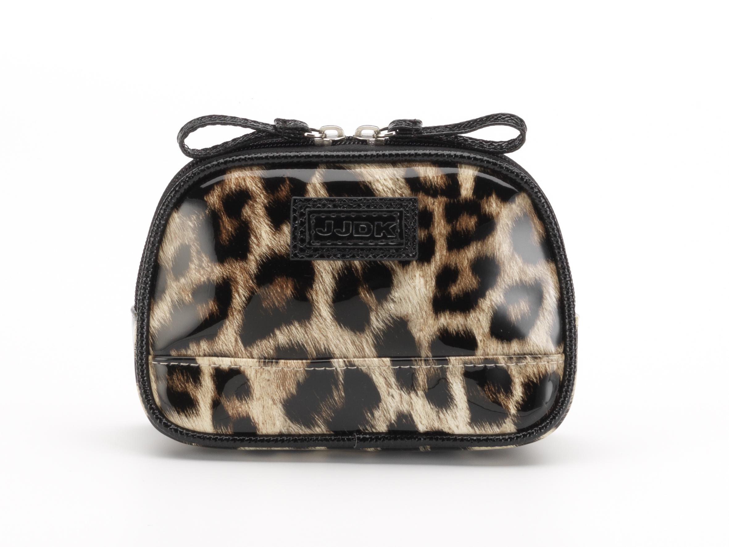 Купить JJDK Косметичка Oda leopard beige запечатанный хлопок, леопард бежевый