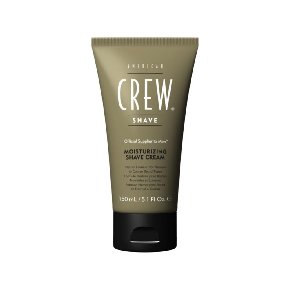 AMERICAN CREW Крем на основе трав с эффектом холода для бритья / Moisturizing Shave Cream 150млДля бритья<br>Крем для бритья увлажняющий Shave Cream сильно облегчает зачастую мучительный процесс бритья. Травяная формула прекрасно подходит для чувствительной кожи. Витамин E защищает и увлажняет кожу. Миндальное масло смягчает кожу и помогает предотвратить ее сухость, а также устраняет неприятные ощущения при бритье.  Активные ингредиенты: Витамин E, миндальное масло.  Способ применения: Умыться теплой водой. Нанести крем на лицо и приступить к бритью. Затем использовать охлаждающий лосьон Post-Shave Cooling Lotion.<br><br>Объем: 150 мл.<br>Пол: Мужской