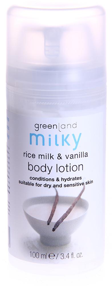 """GREENLAND Лосьон для тела """"Рисовое молочко-ваниль"""" / MILKY 100мл"""
