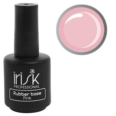 Купить IRISK PROFESSIONAL База каучуковая камуфлирующая для ногтей, нежно-розовая / Rubber Base Pink 18 мл