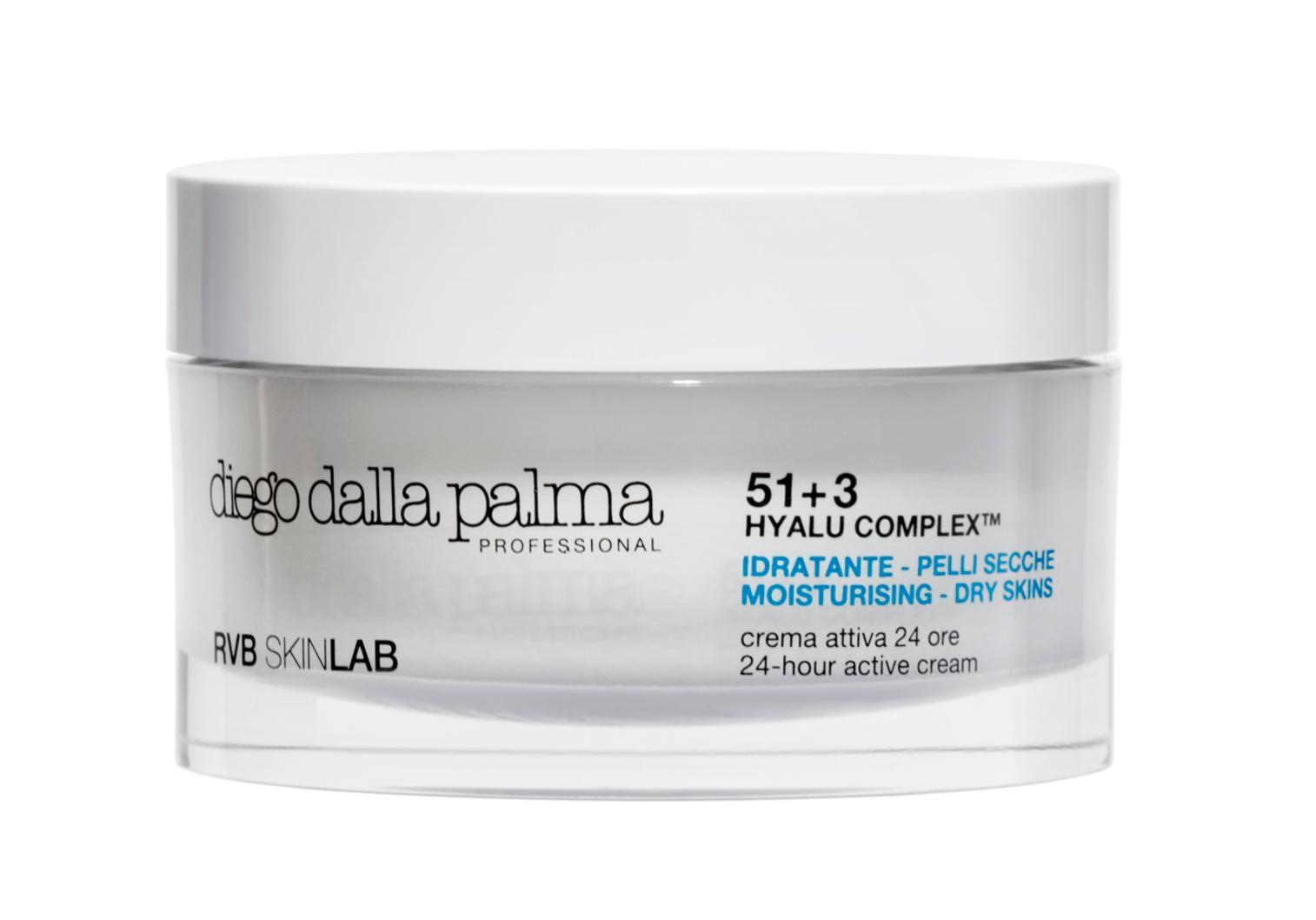 DIEGO DALLA PALMA PROFESSIONAL Крем активный 24-часового действия / Diego dalla palma 50млКремы<br>Нежный и шелковистый, насыщенный увлажняющий крем с пролонгированным действием. Восстанавливает оптимальную влажность и природную эластичность поврежденной кожи,придает ей мягкость и гладкость, оказывает выраженное противовоспалительное действие. Регулируют баланс и активность липидов эпидермальной мантии на клеточном уровне, способствует синтезу аквапоринов. РЕКОМЕНДУЕТСЯ: для увлажнения кожи, особенно для сухой, обезвоженной, с поврежденным эпидермальным барьером. Активные ингредиенты: 51+3 HYALU COMPLEX , Нydra-flux  (аквапорины -3), Hydra-gene complex, масло теобромы крупноцветковой (купуасу), масло оливы, экстракт офипогона японского, трегалоза, убихинон, ретинол пальмитат. &amp;nbsp;Состав: Aqua (Water), Propylheptyl Caprylate, Dimethicone, Polysilicone-11, Hydrogenated Polydecene, Theobroma Grandiflorum Seed Butter, Cetearyl Olivate, Cetearyl Alcohol, Sorbitan Olivate, Cetyl Palmitate, Glycerin, Trehalose, Pentylene Glycol, Hydrolyzed Glycosaminoglycans, Ophiopogon Japonicus Root Extract, Yeast Amino Acids, Urea, Butylene Glycol, Niacinamide, Xanthan Gum, Arginine, Sodium Starch Octenylsuccinate, Betaine, Inositol, Taurine, Sodium Lauroyl Lactylate, Calcium Pantothenate, Maltodextrin, Sodium Hyaluronate, Lecithin, Pyridoxine Hcl Sodium Ascorbyl Phosphate, Mannitol, Disodium Adenosine Triphosphate, Rna, Saccharomyces/Copper Ferment, Saccharomyces/Iron Ferment, Saccharomyces/Magnesium Ferment, Saccharomyces/Silicon Ferment, Saccharomyces/Zinc Ferment, Ammonium Acryloyldimethyltaurate/Vp Copolymer,Tyrosine, Phenylalanine, Glutamic Acid, Aspartic Acid, Threonine, Valine, Lysine, Histidine, Glycine, Valine, Isoleucine, Leucine, Serine, Alanine, Proline, Citric Acid, Sorbitol, Tocopheryl Acetate, Histidine Hcl, Tocopherol, Ascorbyl Palmitate, Tropolone, Ceramide 3, Thiamine/Yeast Polypeptide, Dna, Methionine, Cysteine, Tryptophan, Carbomer, Cholesterol, Ceramide 6 Ii,