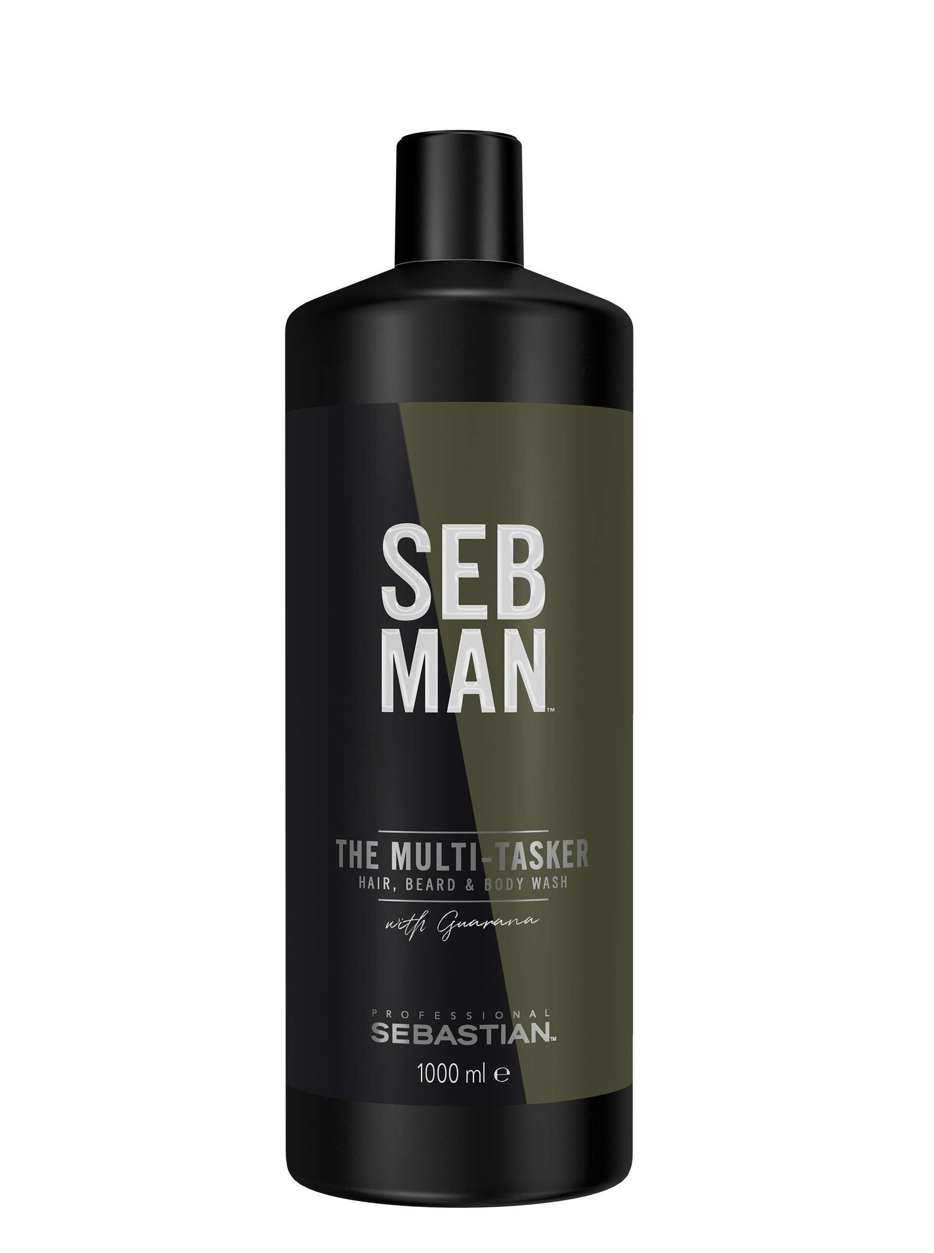 SEB MAN Шампунь для ухода за волосами, бородой и телом 3 в 1 / THE MULTITASKER 1000 мл фото