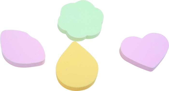 DEWAL BEAUTY Губка для нанесения макияжа, цветная 4 шт