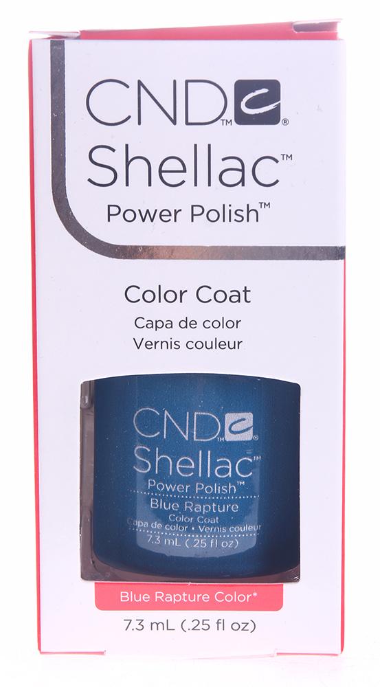 CND 053A покрытие гелевое / Blue Rapture SHELLAC 7,3 мл cnd 058a покрытие гелевое steel gaze shellac 7 3мл