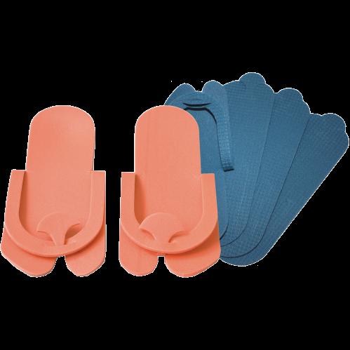 ЛОРЕЛЕЯ Тапочки 0,5 мм цвет-белый/оранжевый пенополиэтилен (1пара) от Галерея Косметики