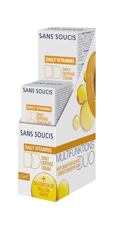 SANS SOUCIS Набор Антиоксидантная защита (DD крем дневной защитный 30 мл, DD для кожи вокруг глаз 3 мл)