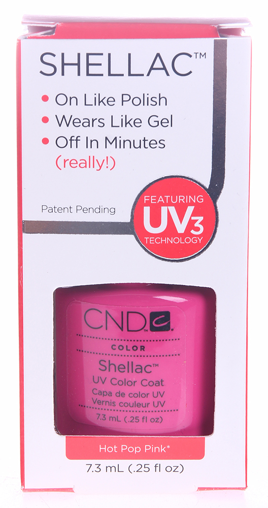 CND 019 покрытие гелевое / Hot Pop Pink SHELLAC 7,3 мл [sa] new japan genuine original spot power q64pn