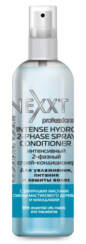 NEXXT professional Спрей-кондиционер интенсивный двухфазный / INTENSE HYDRO 2-PHASE SPRAY CONDITIONER 250 мл спрей nexxt professional energy vital protection spray 250 мл