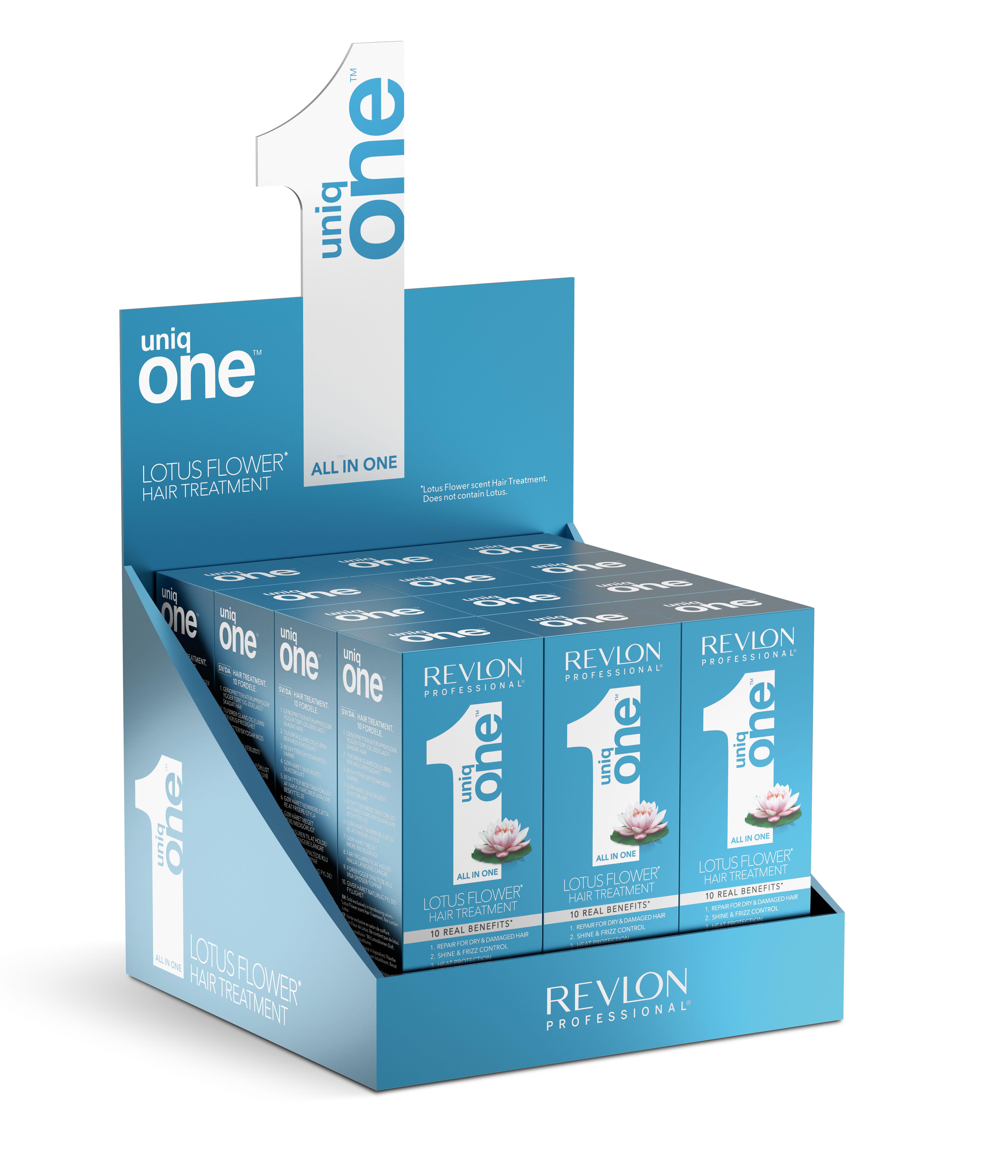 REVLON Professional Набор масок-спрей несмываемая / Uniq One LOTUS 150 мл (1 коробка = 12 шт.)