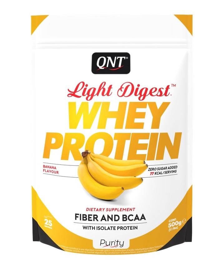 Купить QNT Добавка биологически активная к пище Лайт дайджест вей протеин, банан / LIGHT DIGEST WHEY PROTEIN Banana 500 г