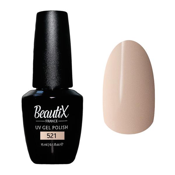 Купить BEAUTIX 521 гель-лак для ногтей 15 мл, Коричневые