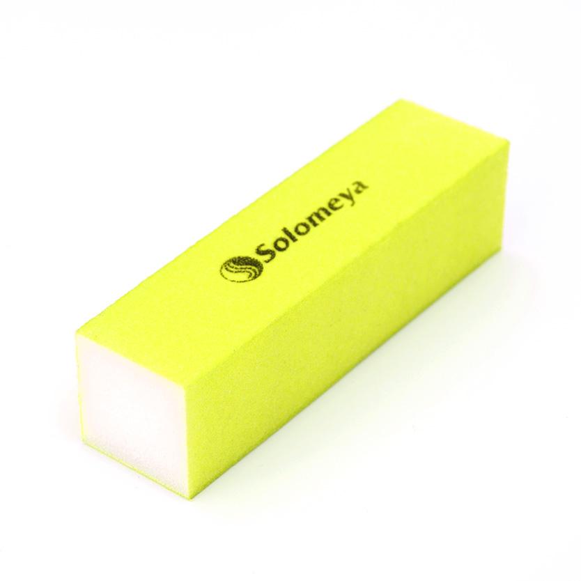 SOLOMEYA Блок-шлифовщик для ногтей желтый / Yellow Sanding BlockПилки для ногтей<br>Блок-шлифовщик Solomeya предназначен для обработки искусственных ногтей, а также ногтей с тканевыми покрытиями. Прекрасно сглаживает все неровности, не повреждая кутикулу. Шлифовщик изготовлен из полиэтиленовой пены высокого качества, благодаря чему сохраняет свои свойства в течение длительного времени. Рекомендуется для профессионального и домашнего использования.<br>