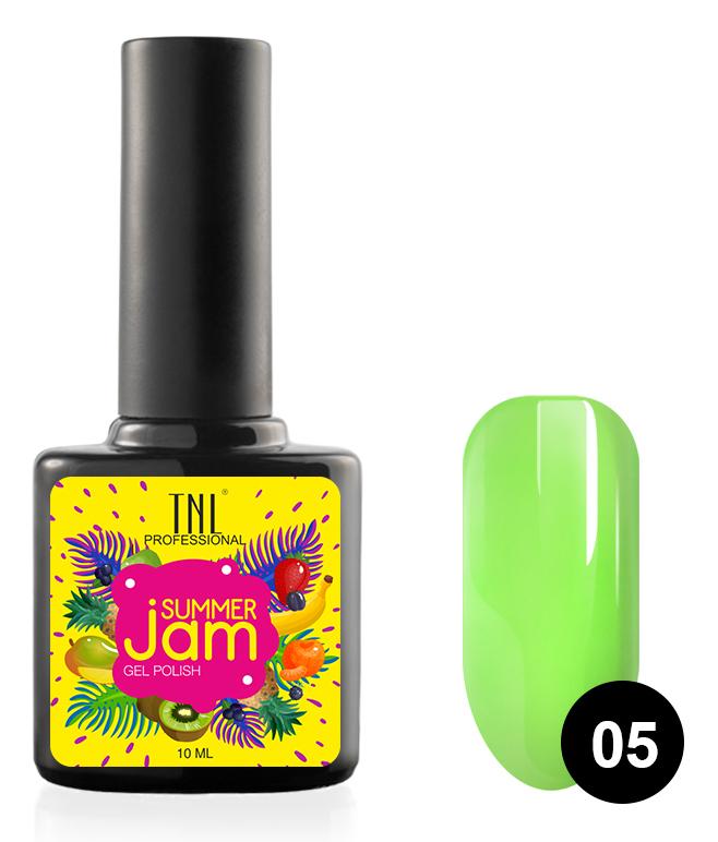 Купить TNL PROFESSIONAL 05 гель-лак для ногтей, неоновый салатовый / Summer Jam 10 мл, Зеленые
