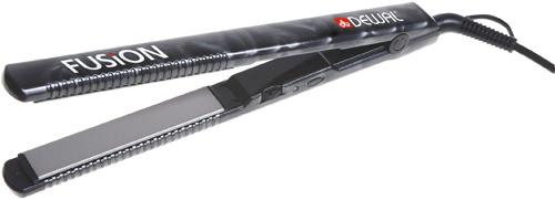DEWAL PROFESSIONAL Щипцы-выпрямители Fusion черные, с терморегулятором, титаново-турмалиновое покрытие, 23х115 мм, 45 Вт - Щипцы-выпрямители