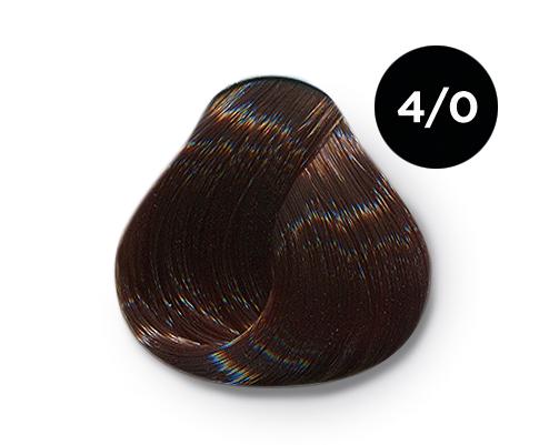 OLLIN PROFESSIONAL 4/0 краска для волос, шатен / OLLIN COLOR 60 мл