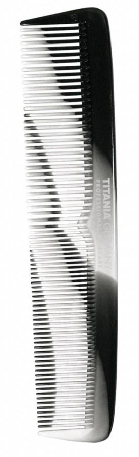 TITANIA Расческа комбинированная, серо-черная 195 мм