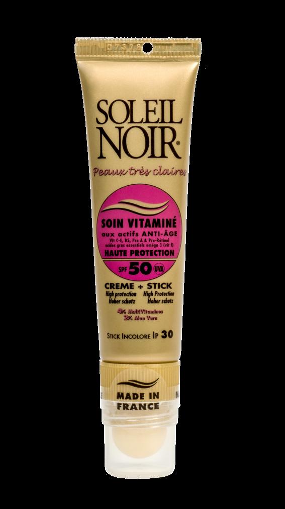 SOLEIL NOIR Набор для лица Высокая степень защиты (Крем для лица SPF50 и бальзам для губ SPF30) 20+2мл