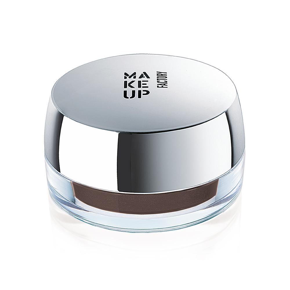 MAKE UP FACTORY Крем-гель стойкий для бровей, 3 темно коричневый / Ultrastay Brow Cream - Краски для бровей
