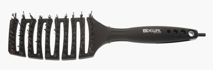 DEWAL PROFESSIONAL Щетка туннельная Black Magic, комбинированная щетина, черная, 9 рядов