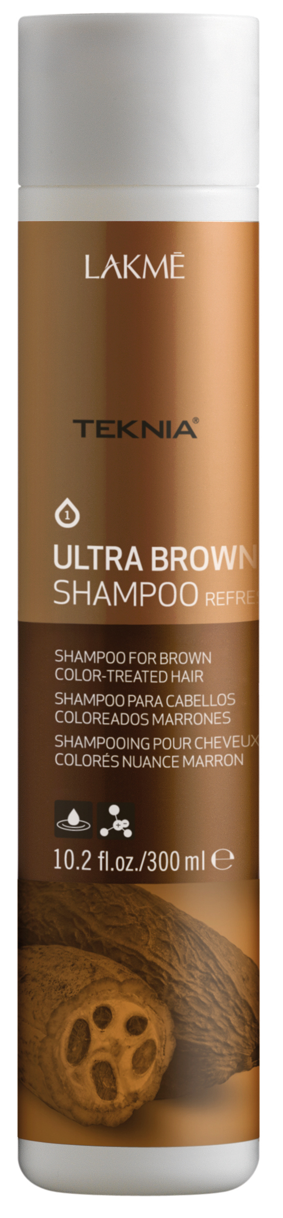 Купить LAKME Шампунь для поддержания оттенка окрашенных волос, коричневый / ULTRA BROWN SHAMPOO 300 мл