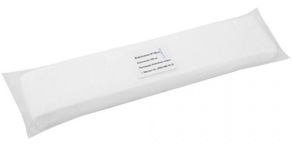 Купить IGRObeauty Воротнички нетканные 8*40 см 45 г/м2 спанлейс, цвет белый 100 шт